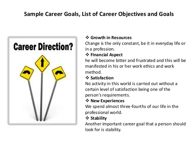 it career goals - Romeolandinez - Career Goal Examples