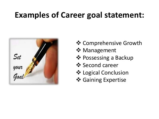 career goal statement - Minimfagency - Career Goal Examples