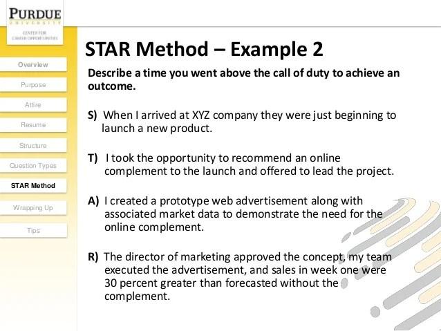 Star Format Resumes  Star Format Resume