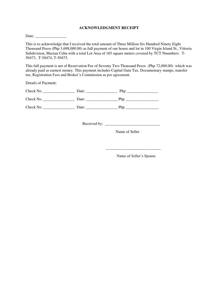 Doc750480 Sample Receipt of Payment 18 Payment Receipt – Received Receipt Format