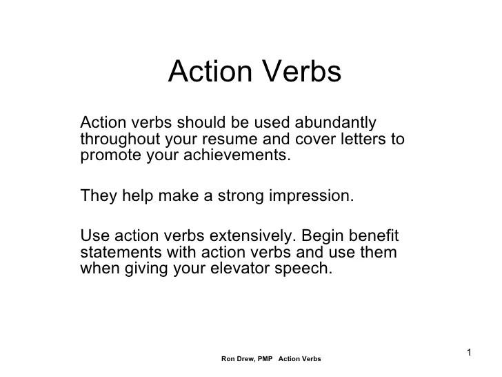 resume verbs - Towerssconstruction