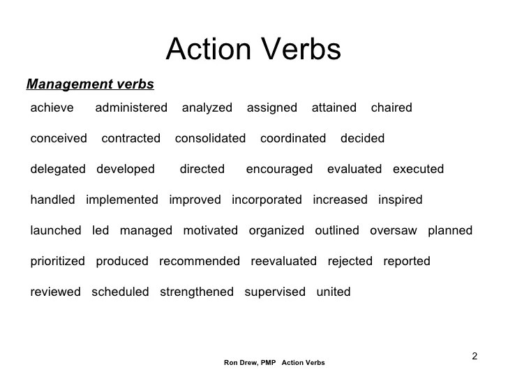 Management Resume Verbs Management Resume Tips To Manage Your Career Rdrew Action Verbs