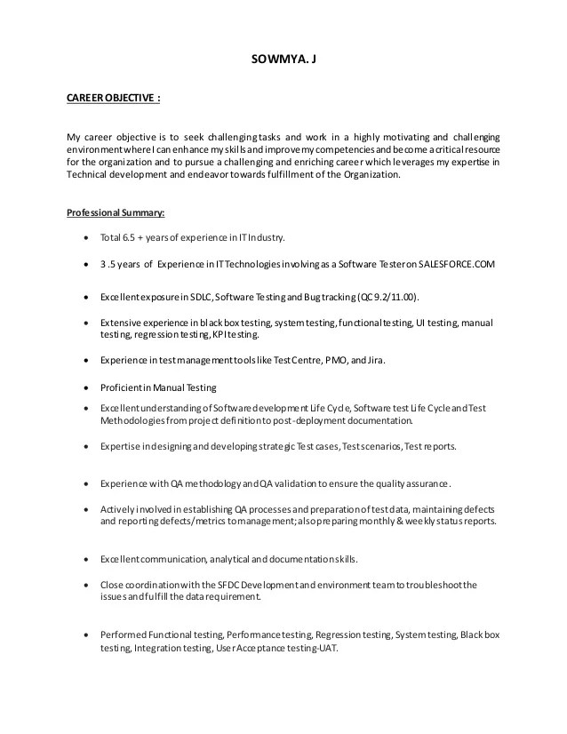 salesforce lightning resume sample
