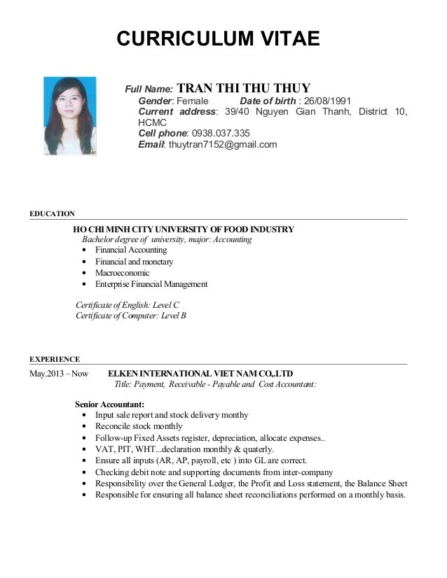 english cv resume finance