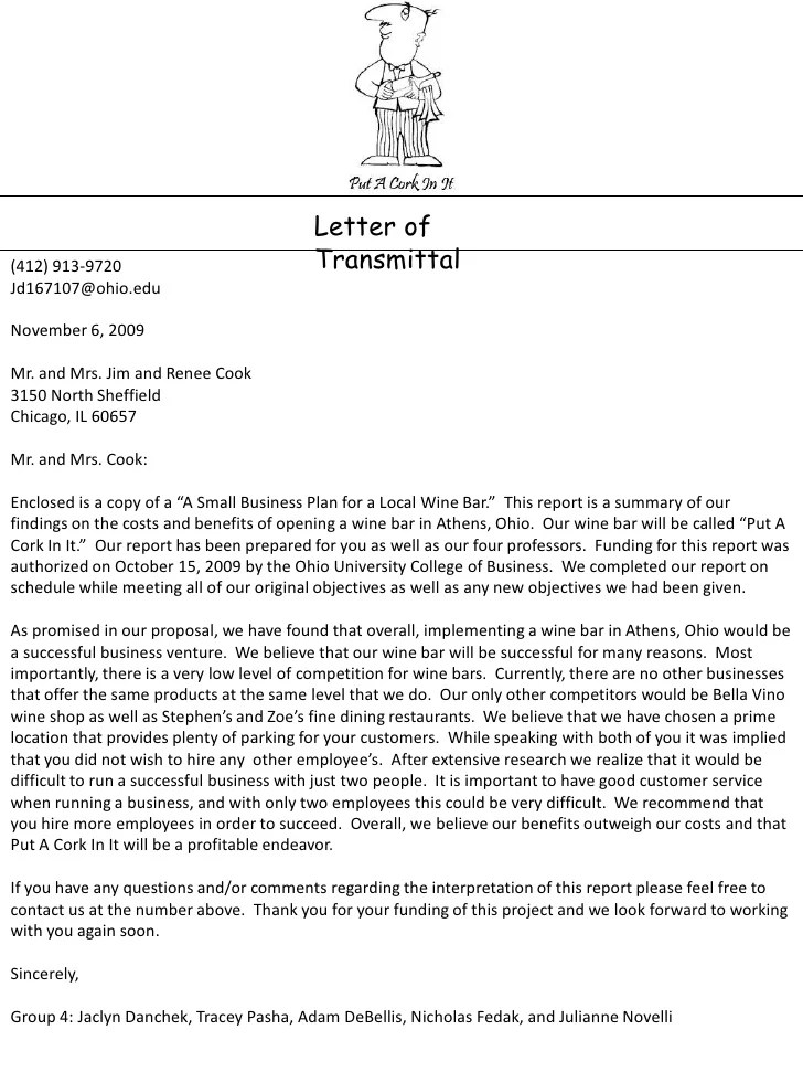Business Plan Cover Letter Sample 5 Examples In Word Pdf. Sample