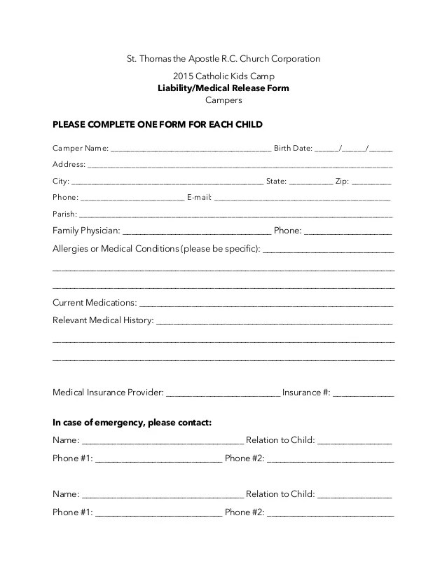 Liability Waiver Form Printable Sample Release And Waiver Of - general liability release form template