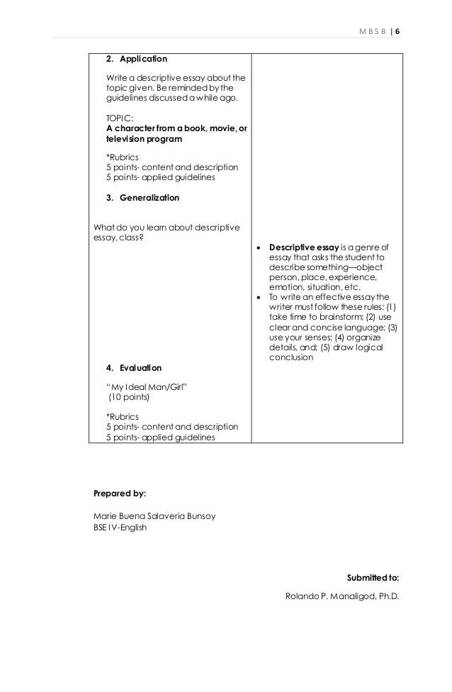 how to write descriptive essay - Josemulinohouse