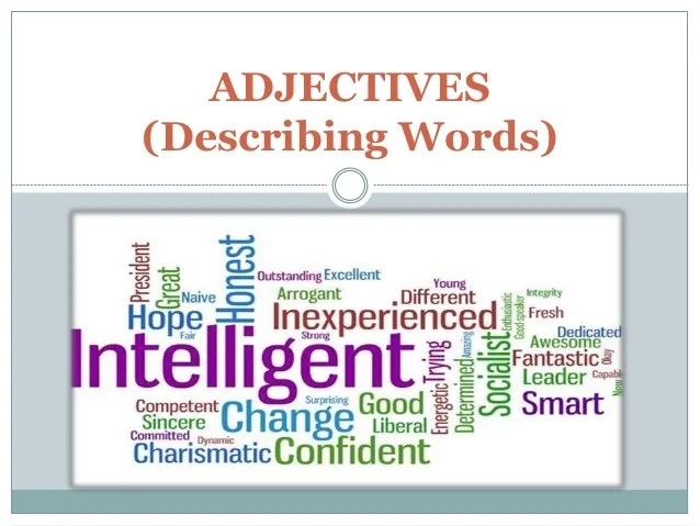 adjectives with letter i - Mendicharlasmotivacionales
