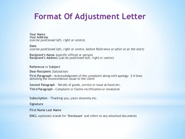 Sample Complaint Letter Lovetoknow Adjustments And Claim