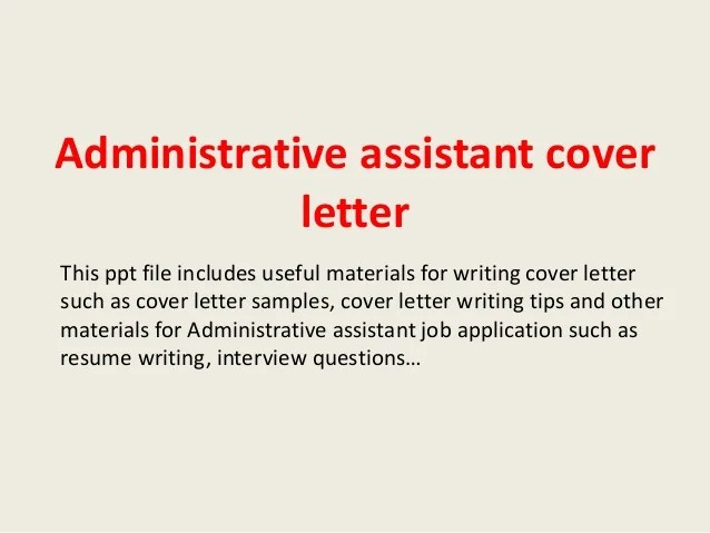 Sample Email Cover Letter For Administrative Assistant. Cover