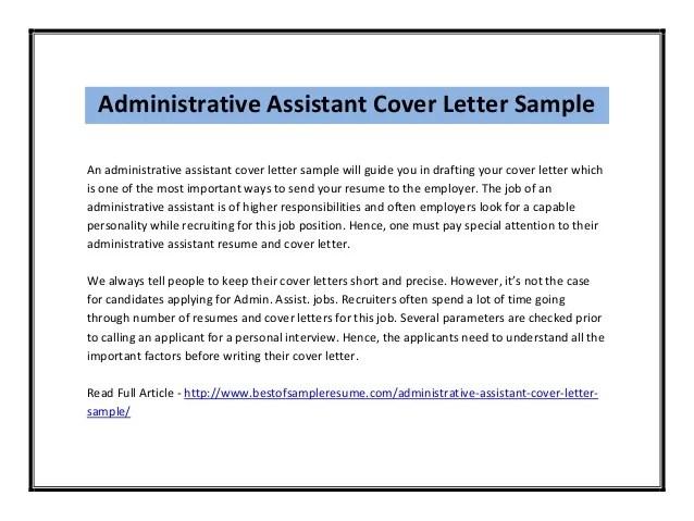 Cover Letter Sample For Administration Officer | Cover Letter ...