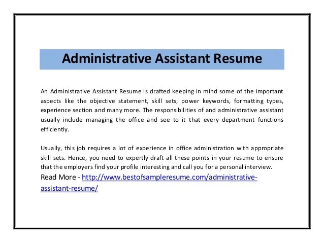resume to be an office assistant