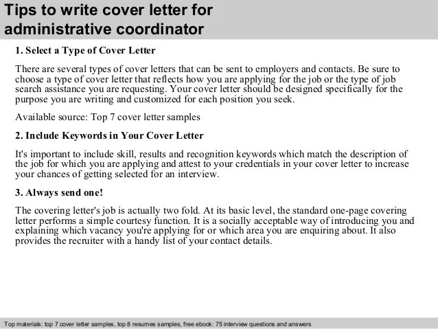 Three Excellent Cover Letter Examples Guardian Careers Administrative Coordinator Cover Letter