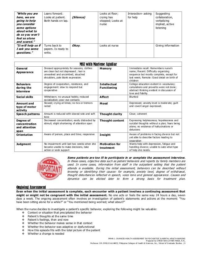 Nursing Assessment Forms Nursing Assessment Form Common Nursing