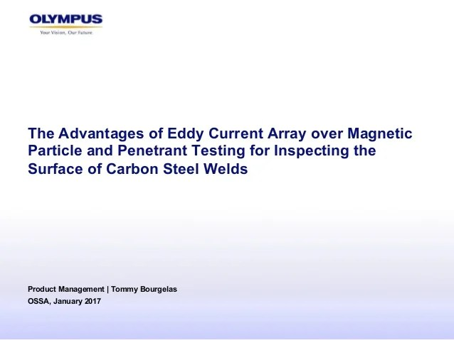 Advantages Of Eddy Current Array Over Magnetic Particle