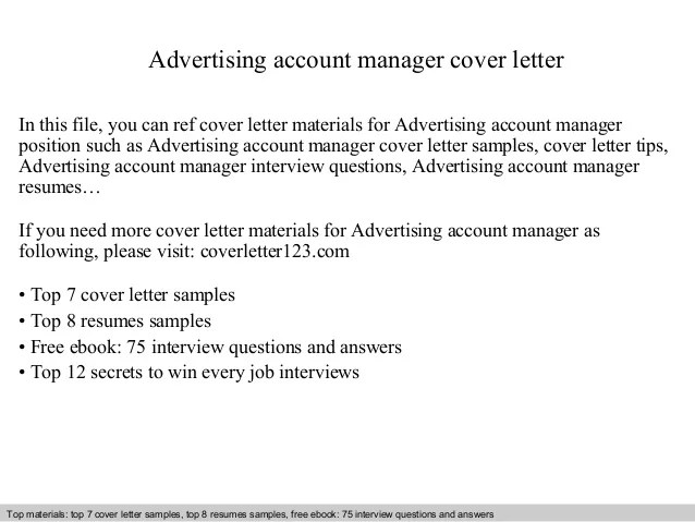 advertising cover letter examples - Selol-ink