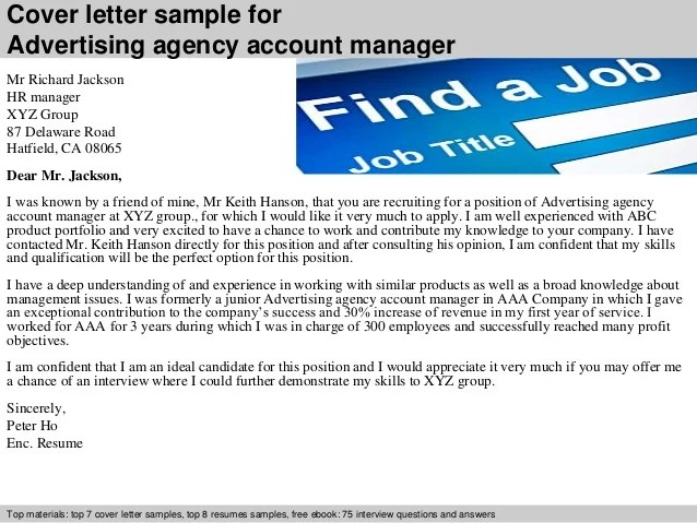 cover letter ad agency - Minimfagency