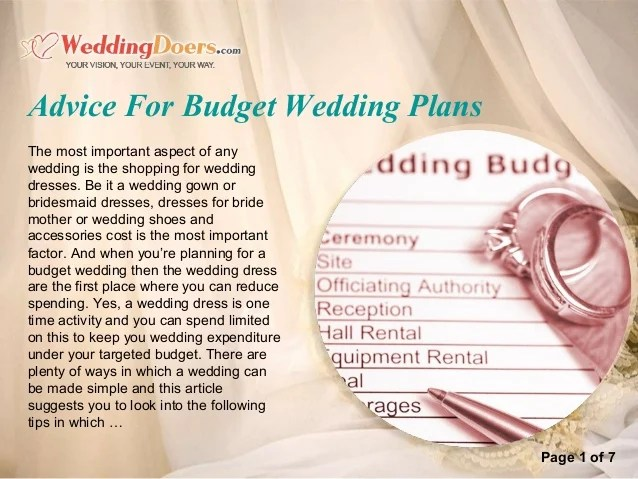 budget wedding plans - Selomdigitalsite - wedding plans