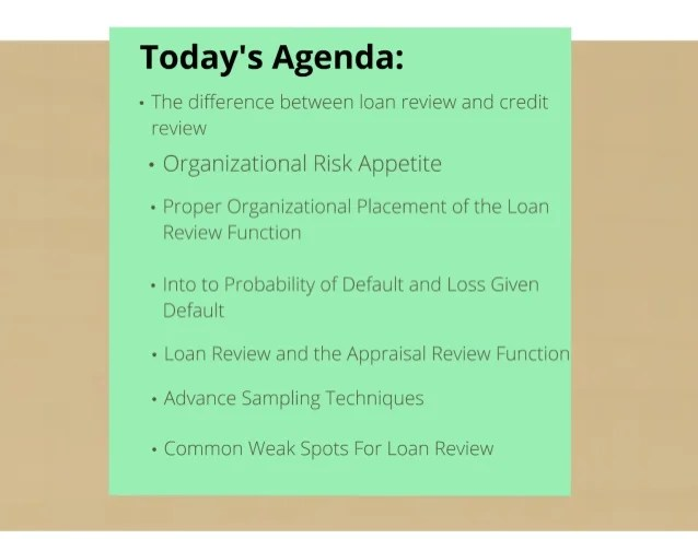 Advanced Loan Review: Top Concepts and Techniques for Today's Credit