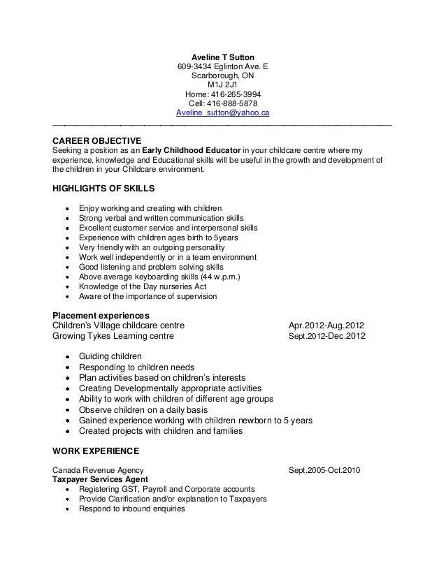 sample resume early childhood education best resumes curiculum