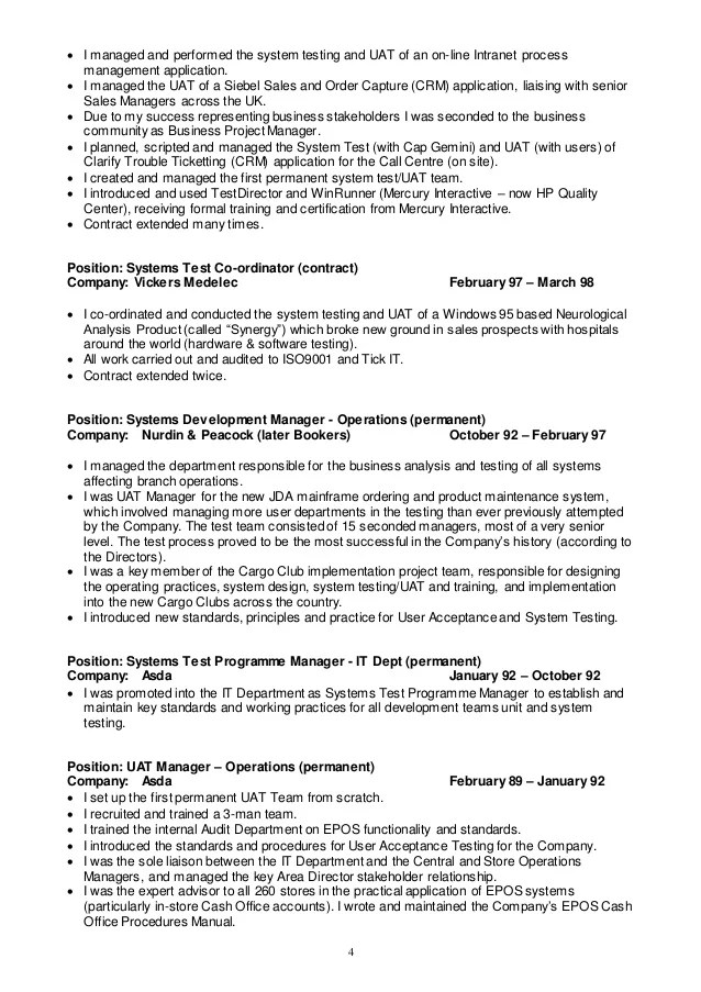 Uat Project Manager Resume Technical Project Manager Resume Samples Jobhero Test Manager Cv 2015