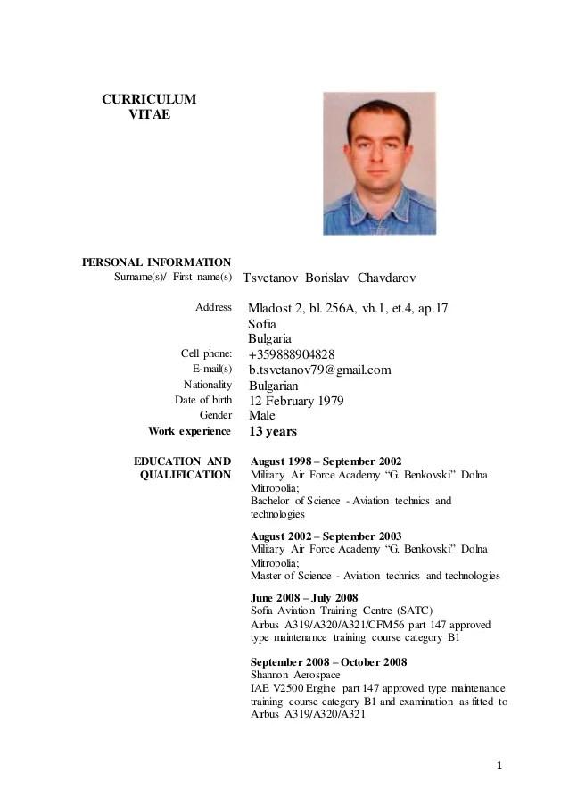 cv driving licence b