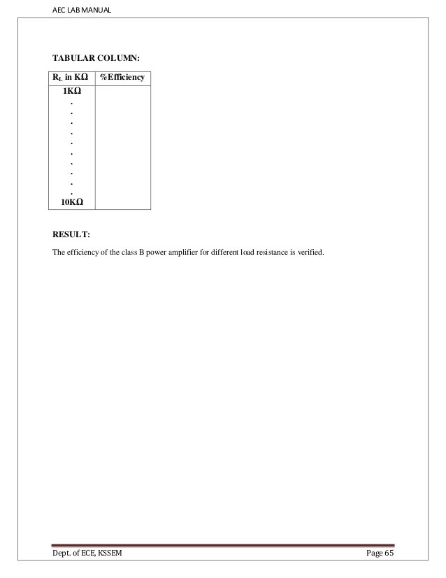 electronic circuits lab manual pdf