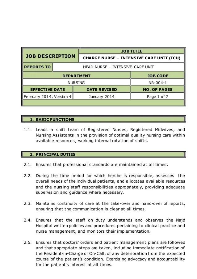 Icu Nurse Resume Job Description Pediatric Intensive Care Unit Icu Nurse Salary Info And Charge Nurse Intensive Care Unit Icu Job Description