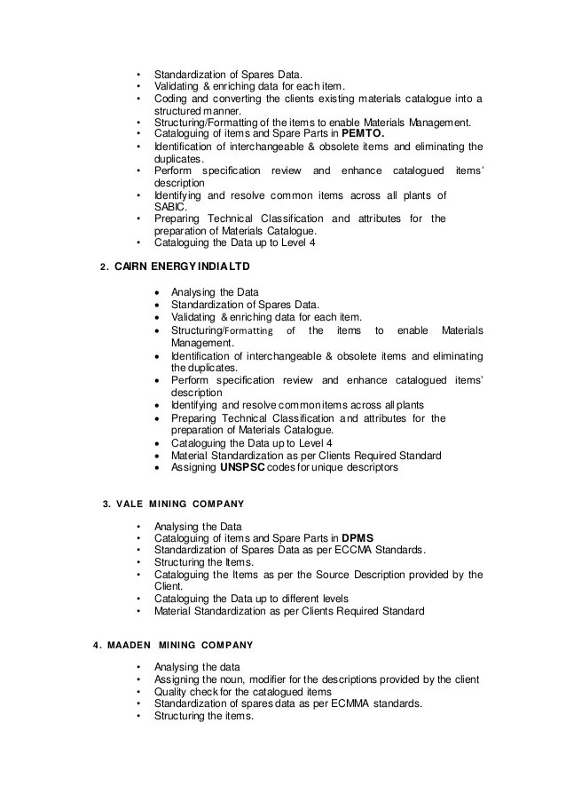 master data management resume - Ozilalmanoof - master data management resume