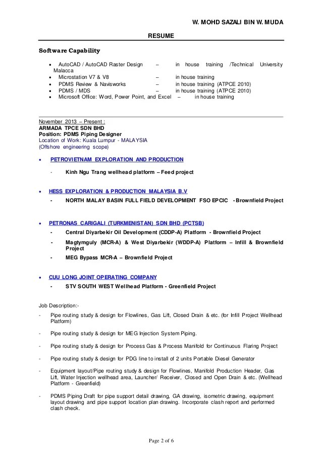 Mechanical Piping Engineer Resume piping engineer sample resume 9 - piping field engineer sample resume