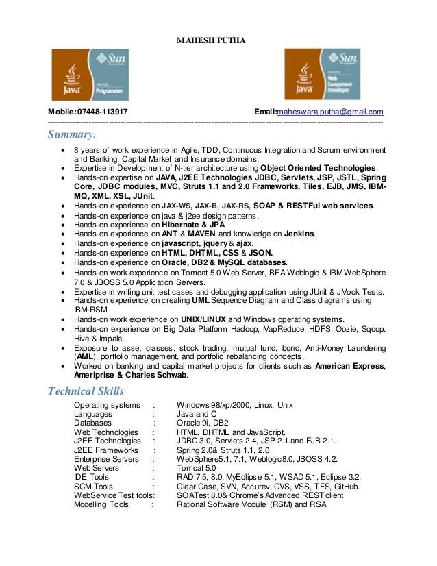 hadoop consultant resume 5 things to know when preparing your hadoop resume mahesh puthamobile07448 113917 emailmaheswaraputhagmail
