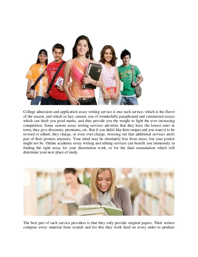 Academic editing services online