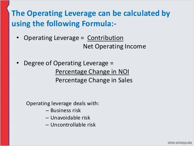Operating Leverage Financial Definition Of Operating Leverage | Autos Post