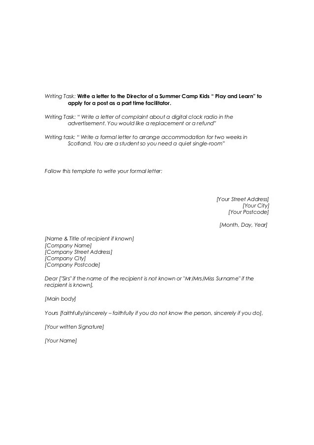 writing an official letter - Ibovjonathandedecker