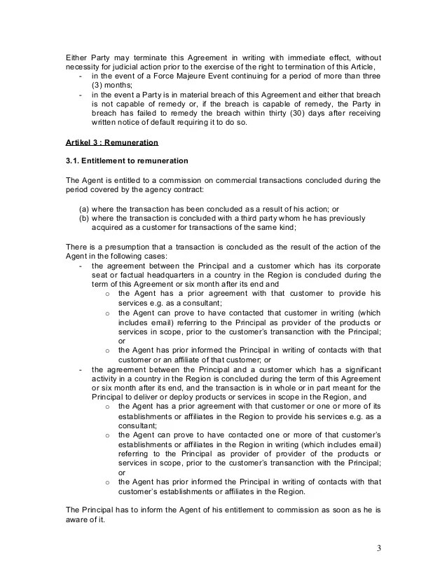 Sales Agent Agreement Template - Eliolera - sales agent contracts