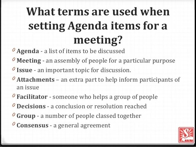 what is a agenda - Ozilalmanoof