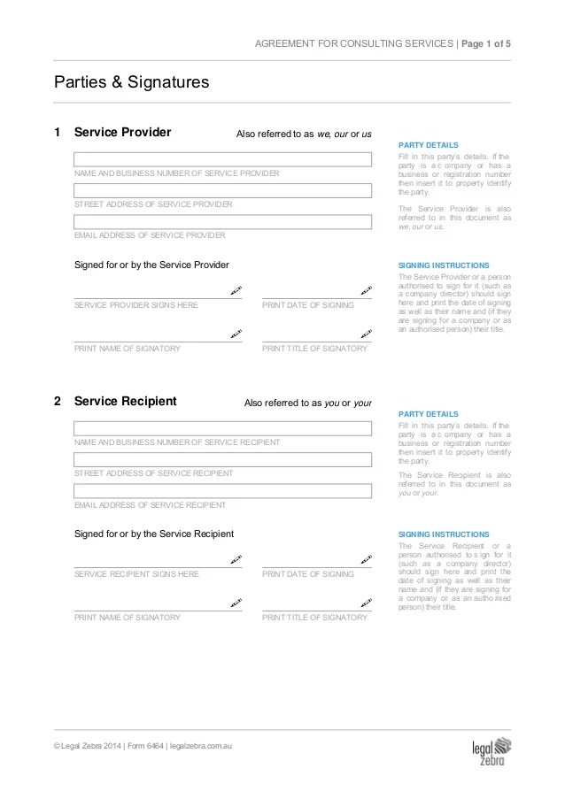 Consulting Agreement Forms Example Business Consultant Contract - consulting agreement examples