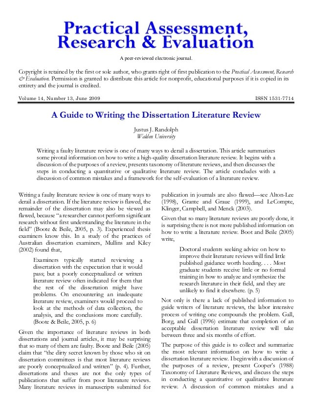 social work dissertation literature review example