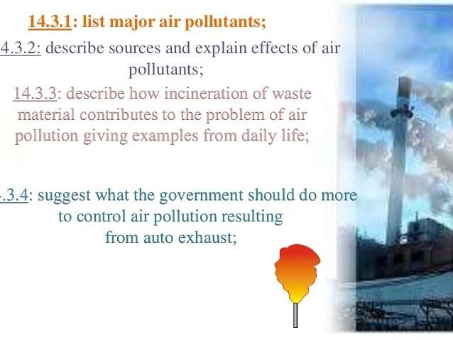 Air Pollution Its Causeseffects And Pollutants