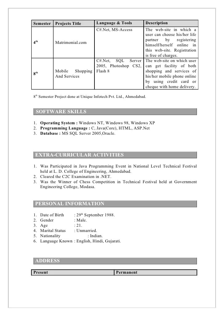 Computer Science Resume For Freshers - Contegri - computer science resume objective
