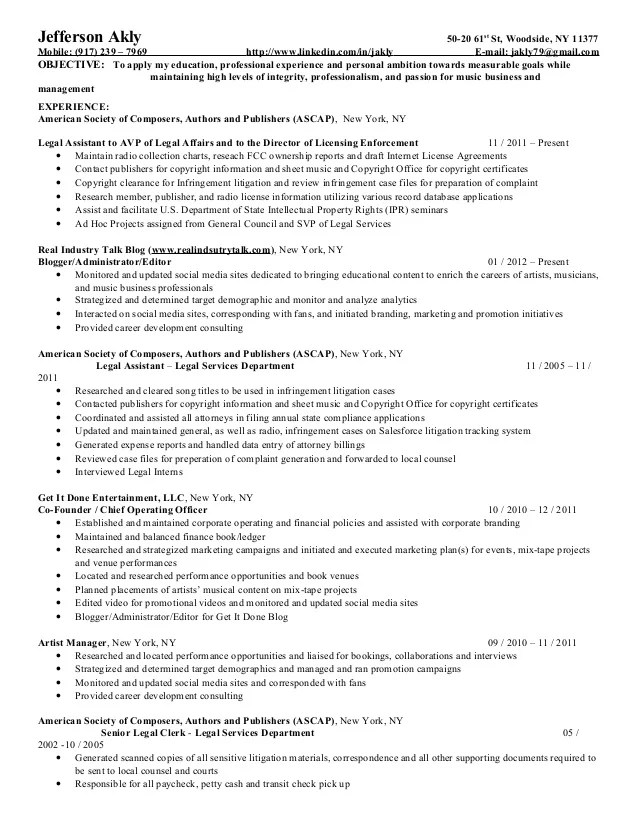 jefferson resume template