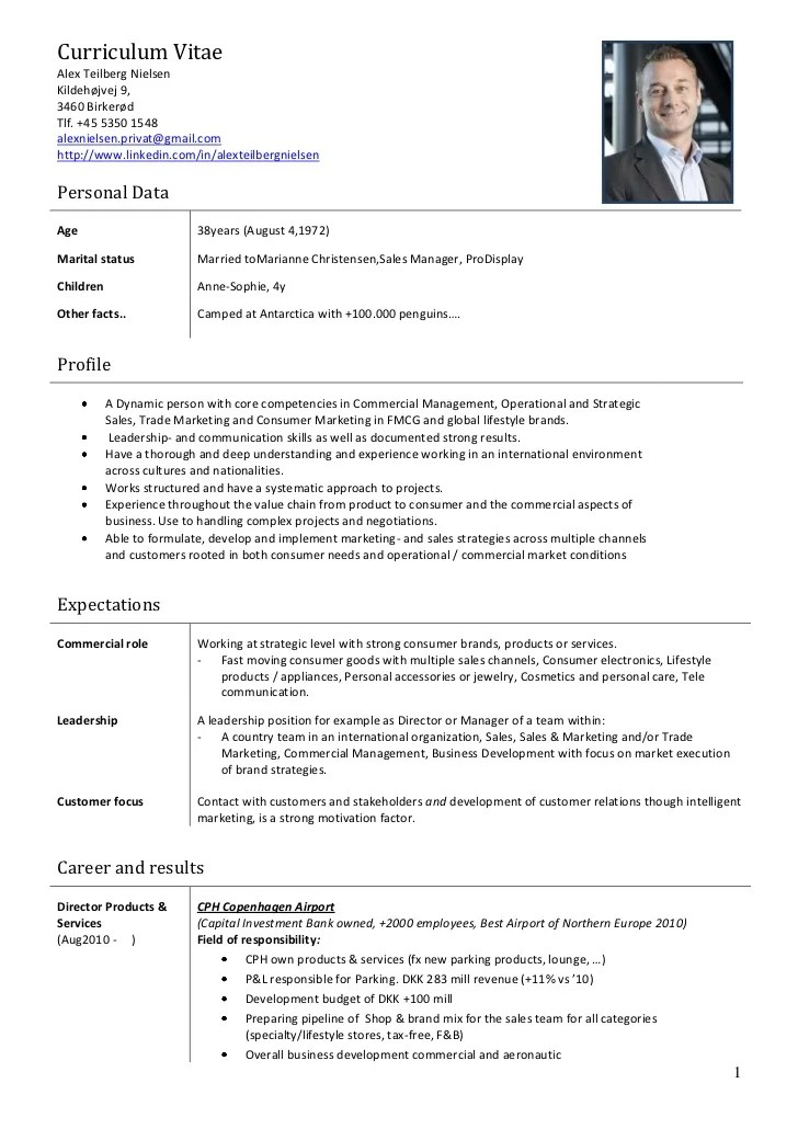 Cv Sample Key Account Manager Key Account Manager Resume Samples Jobhero Alex Nielsen Cv