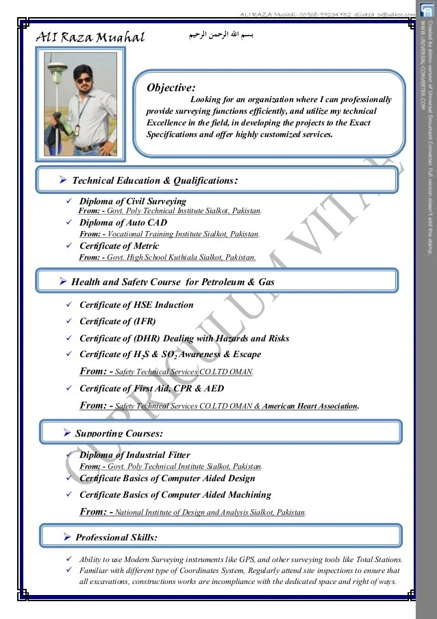 cv for job in pakistan
