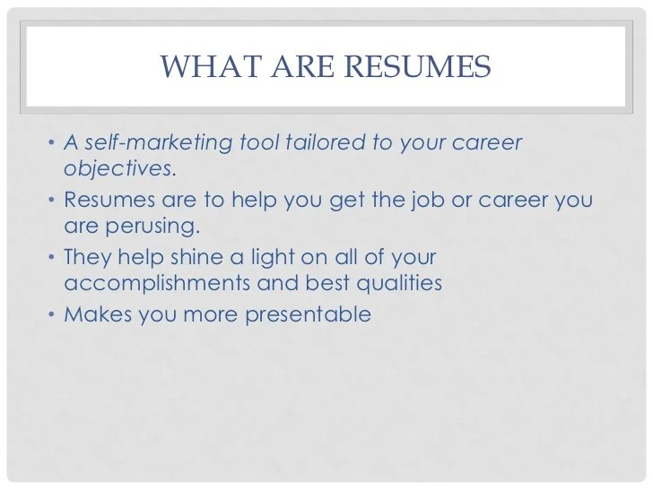 what are resumes - Goalgoodwinmetals