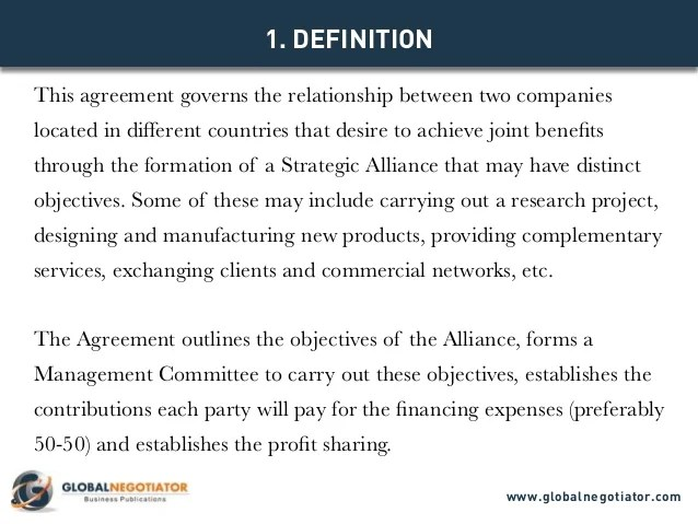 Strategic Relationship Agreement Template  Create Professional