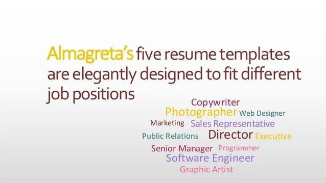 photographer resume web templates
