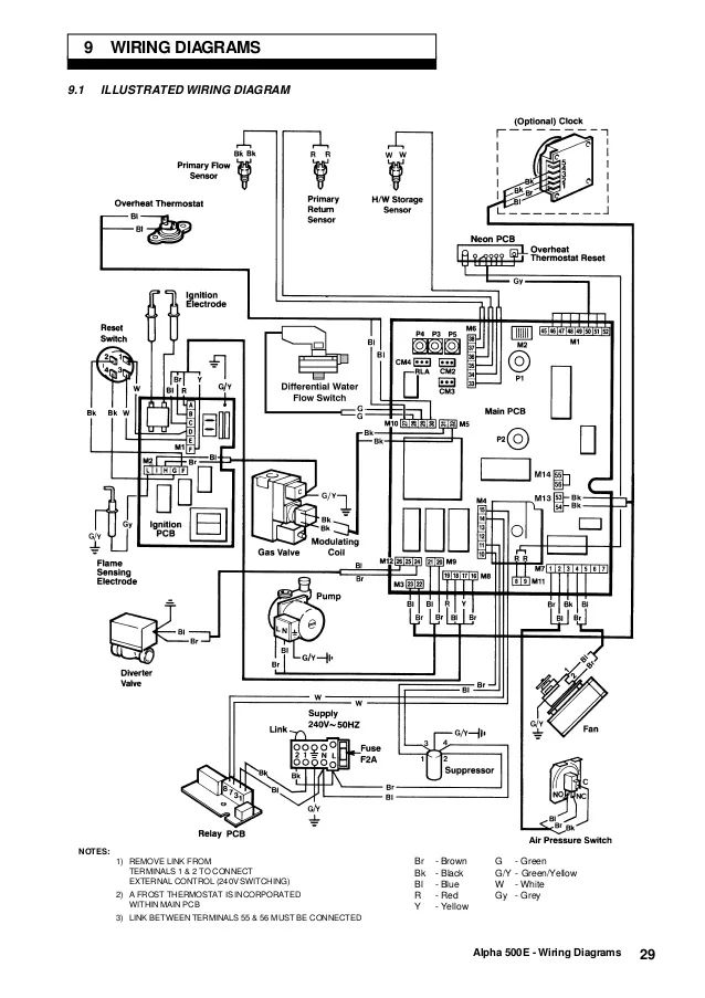 alpha boiler wiring diagram