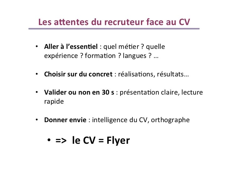 comment donner son cv et sa lettre de motivation