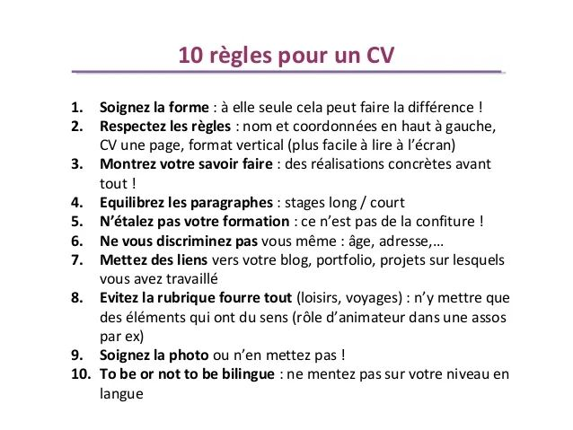 difference entre une lettre de motivation et un cv