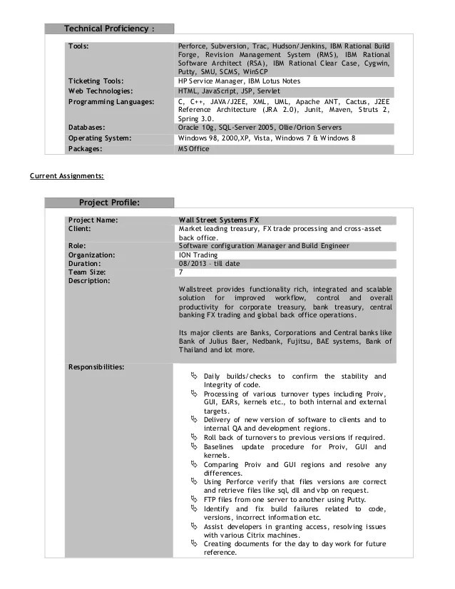 Build And Release Engineer Resume build and release engineer resume - release engineer sample resume